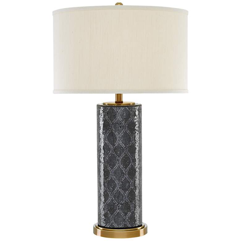 Currey and Company Pavo Black and Antique Brass Table Lamp