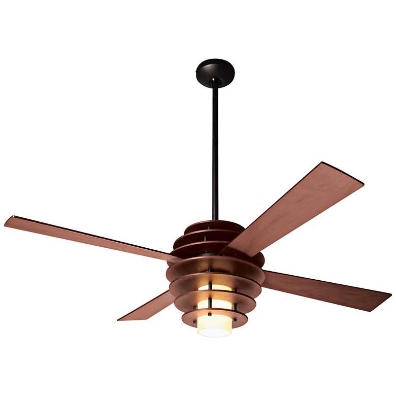 Modern Fan Stella Mahogany LED Ceiling Fan
