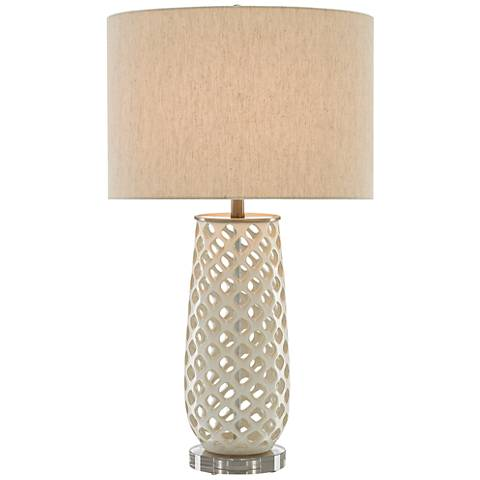 Currey and Company Carlyn Cream Ceramic Table Lamp
