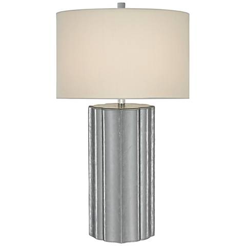 Currey and Company Mello Foil Leather Table Lamp