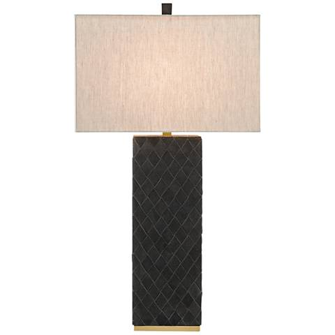 Currey and Company Abba Split Suede Leather Table Lamp