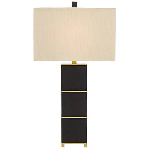 Currey and Company Blake Black Hair-on-Hide Table Lamp