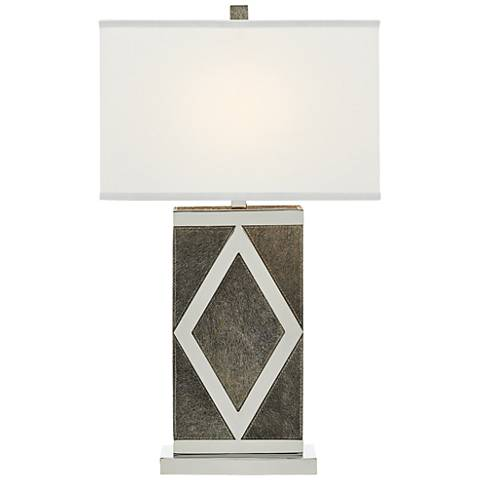 Currey and Company Porter Gray and Nickel Table Lamp