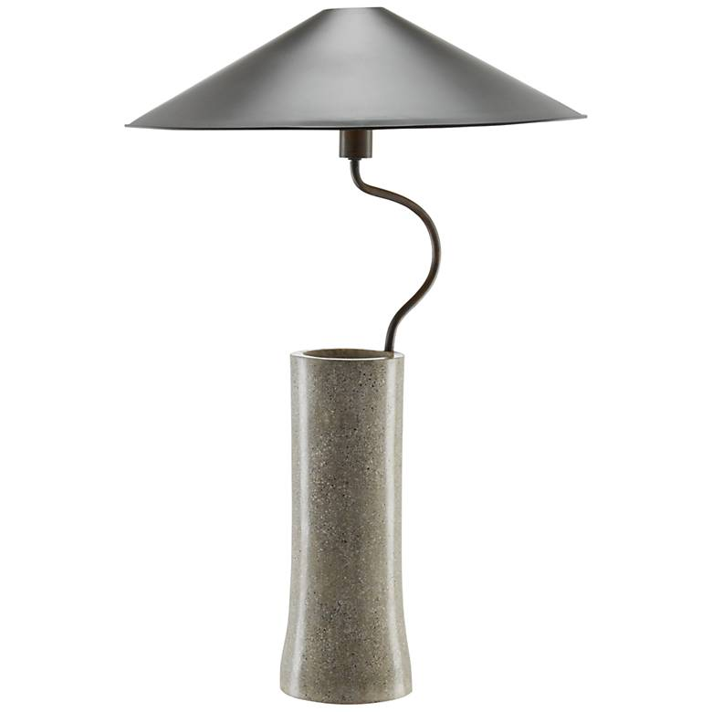 Klay Polished Concrete with Abalone Shells Table Lamp