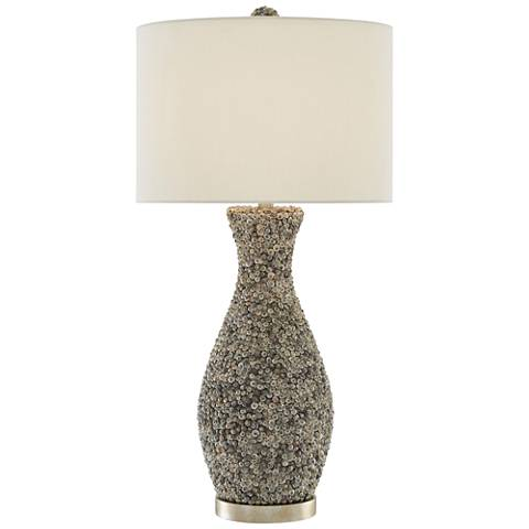 Currey and Company Batad Shell Silver Granello Table Lamp