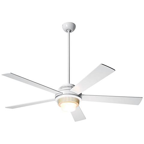 "52"" Modern Fan Solus Gloss White LED Ceiling Fan"