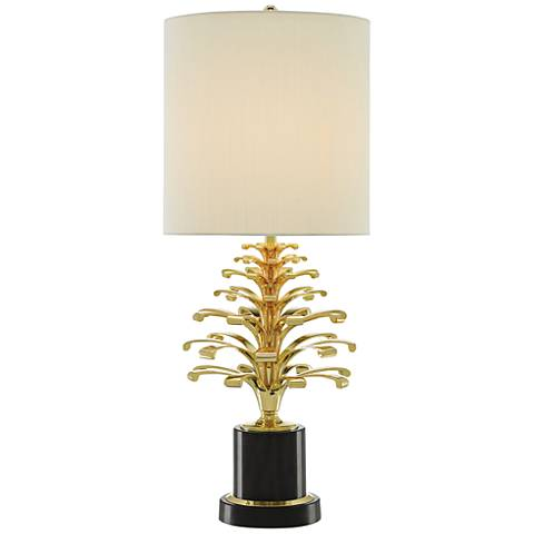 Orsay Polished Brass and Oxidized Black Table Lamp