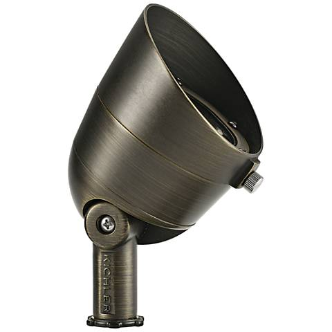 "Landscape LED 4 1/2"" High Brass 2.5W 2700K Wide Flood Light"