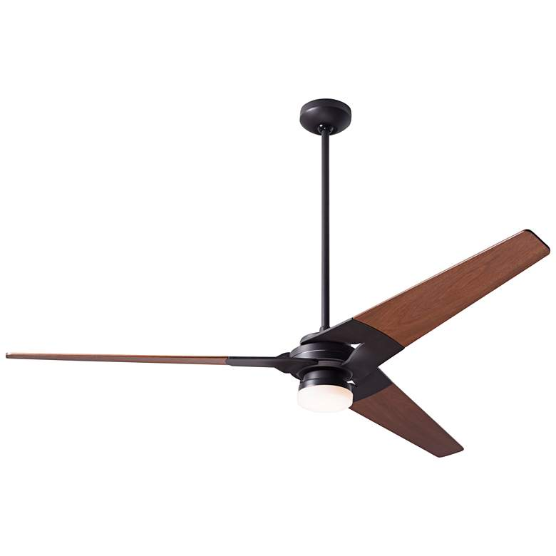 """62"""" Modern Fan Torsion Dark Bronze LED Ceiling Fan"""