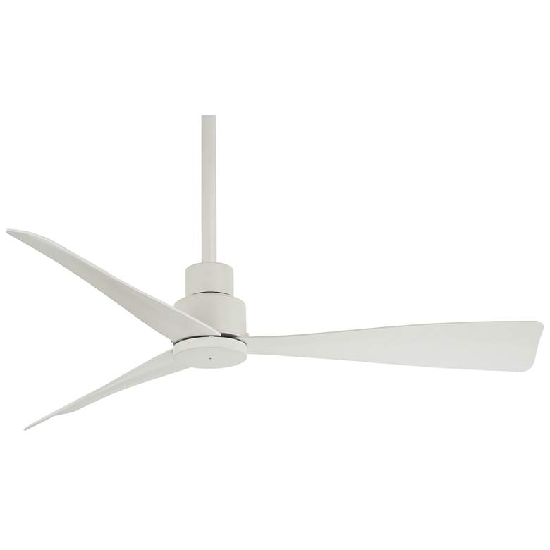 "44"" Minka Aire Simple Flat White Outdoor Ceiling Fan"