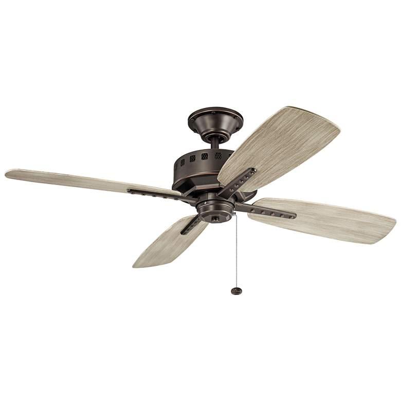 """52"""" Kichler Eads Patio Olde Bronze Outdoor Ceiling Fan"""