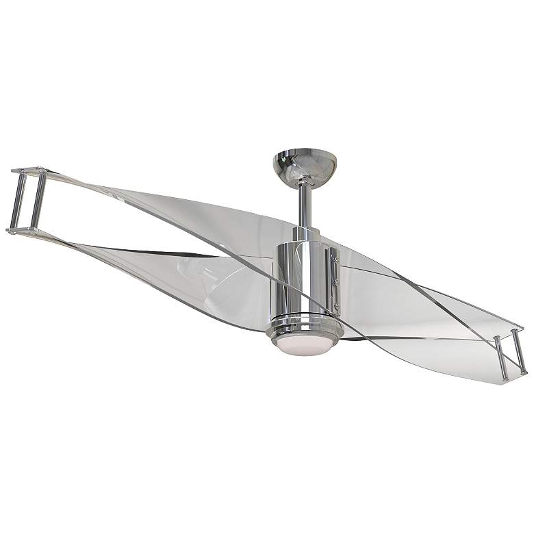 "56"" Craftmade Illusion Polished Nickel LED Ceiling Fan"
