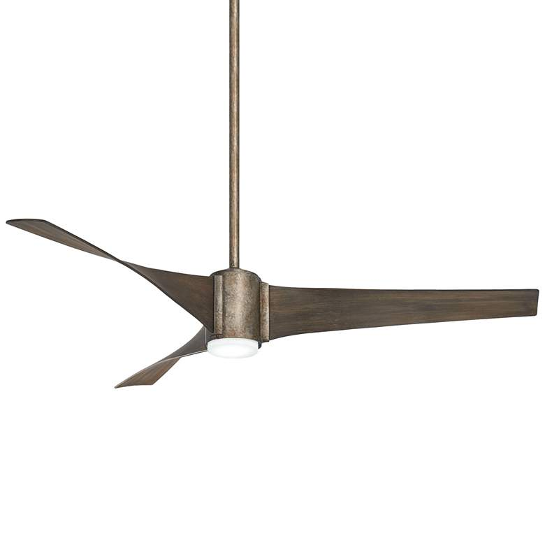 "60"" Minka Aire Triple Vintage Iron LED Ceiling Fan"
