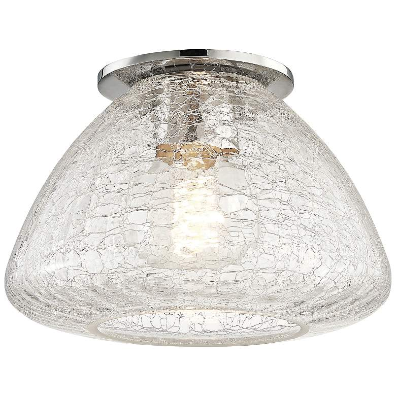 "Mitzi Maya 9"" Wide Polished Nickel Ceiling Light"