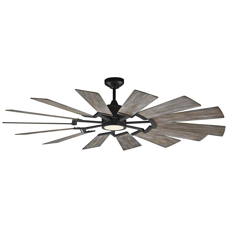 """62"""" Monte Carlo Prairie Aged Pewter LED Ceiling Fan"""