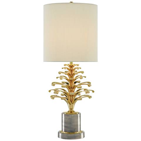 Orsay Polished Brass and Oxidized Pewter Table Lamp