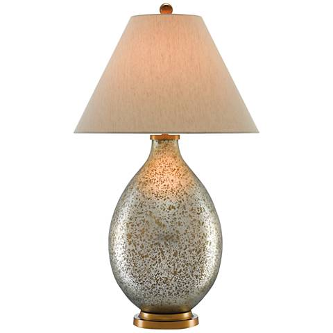 Currey and Company Sella Antique White Urn Table Lamp