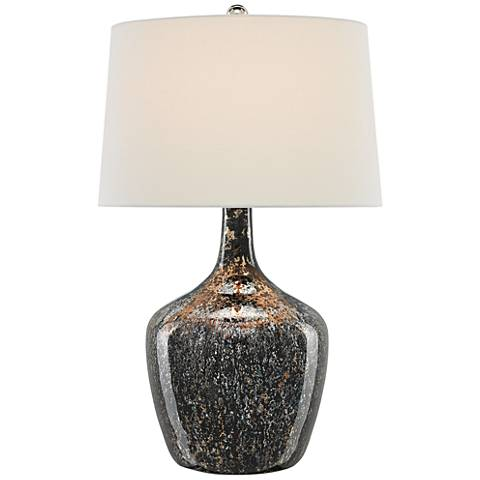 Currey and Company Gabe Antique Black Table Lamp