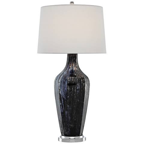 Currey and Company Cosmo Antique Black Table Lamp