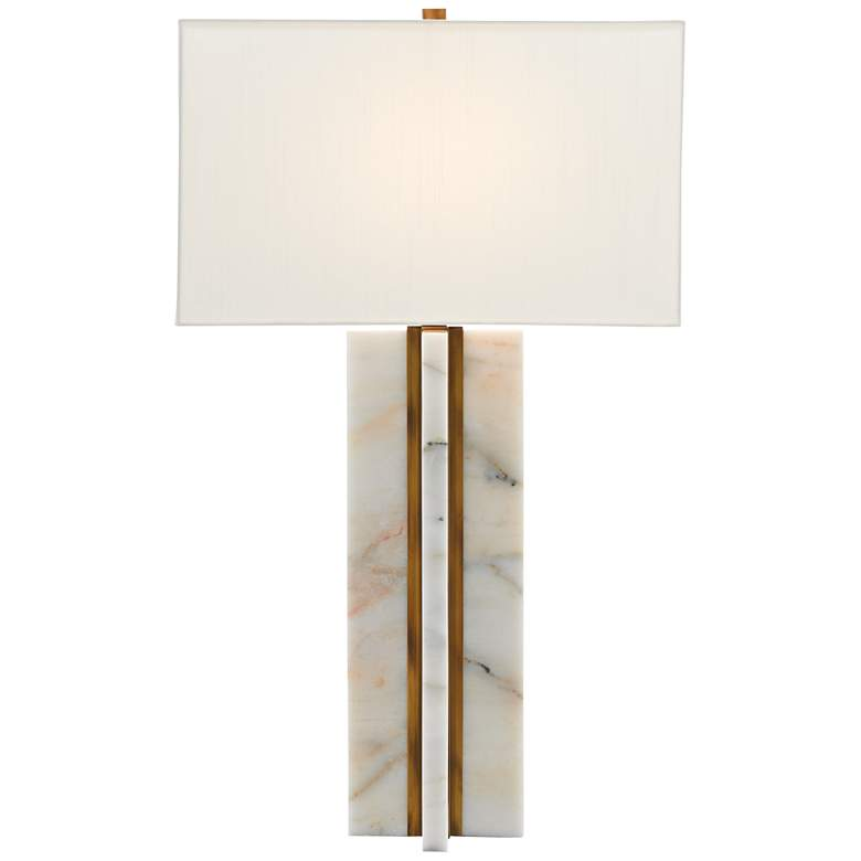 Currey and Company Khalil Marble and Brass Table Lamp