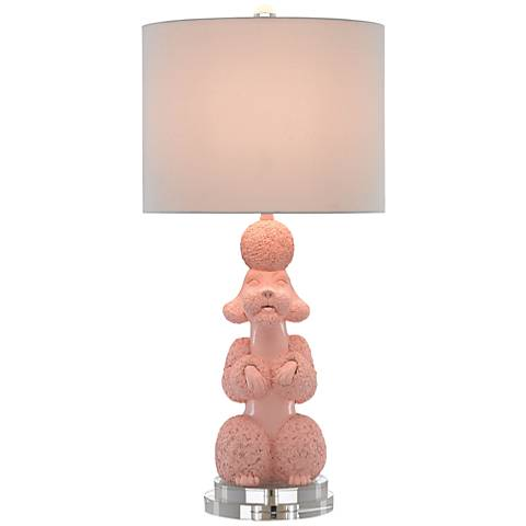 Currey and Company Ms. Poodle Ballet Slipper Table Lamp