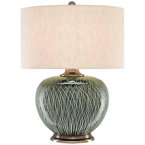 Currey and Company Ginevera Lake Green Table Lamp