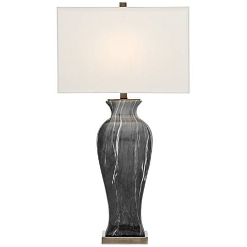 Currey and Company Swift Black and White Ceramic Table Lamp