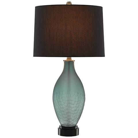 Currey and Company Stasia Smoky Blue and Black Table Lamp