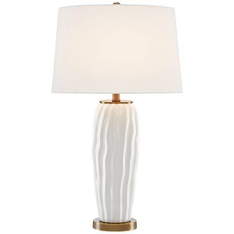 Currey and Company Hala White Ceramic Table Lamp