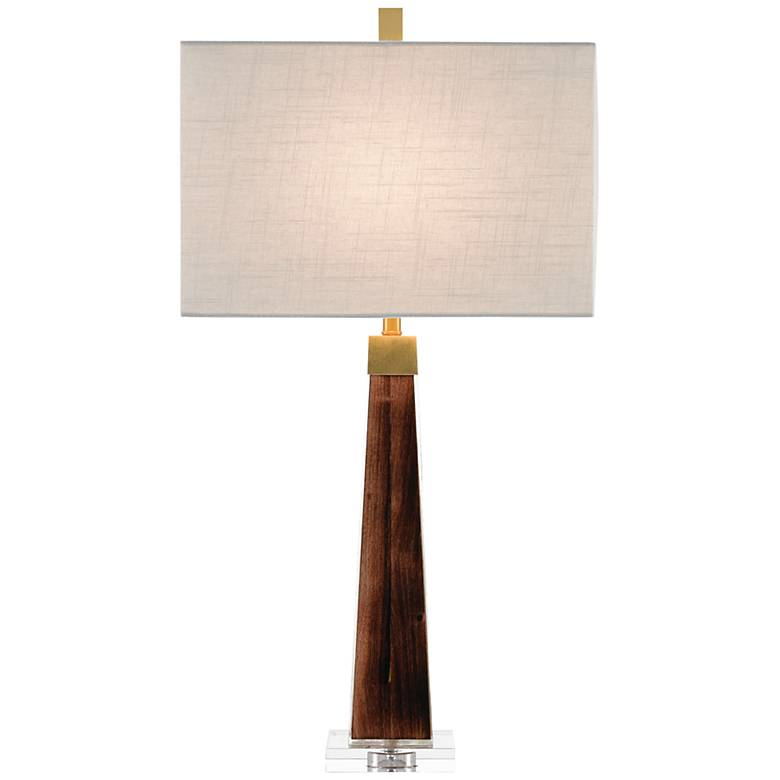 Currey and Company Ryland Burnt Wood Table Lamp