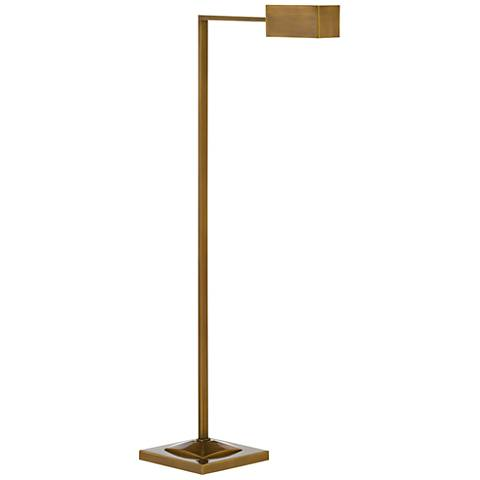 Currey and Company Ruxley Polished Antique Brass Floor Lamp