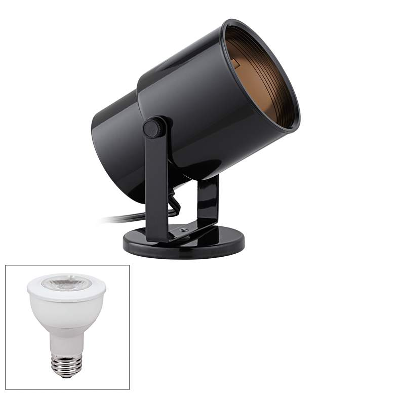 Black Cord-n-Plug LED Accent Uplight with Foot Switch