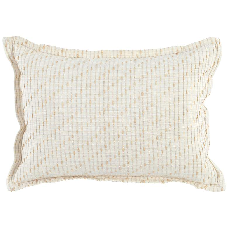 """Arden Ivory and Natural 20"""" x 14"""" Throw Pillow"""