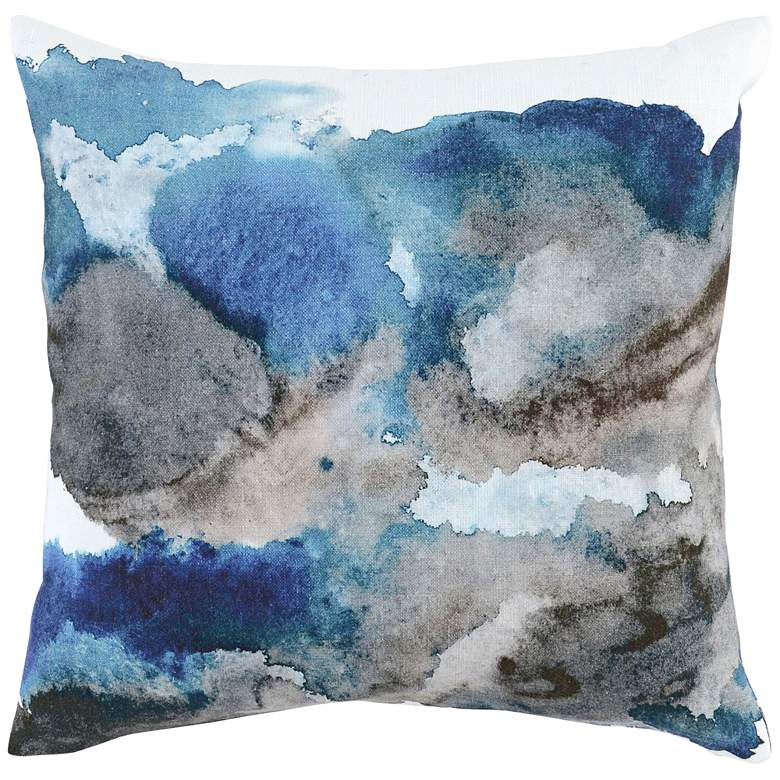 "Isla Blue Multi-Color 20"" Square Throw Pillow"