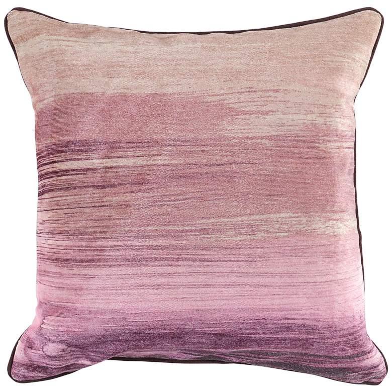 "Vita Wine Red Multi-Color 22"" Square Throw Pillow"