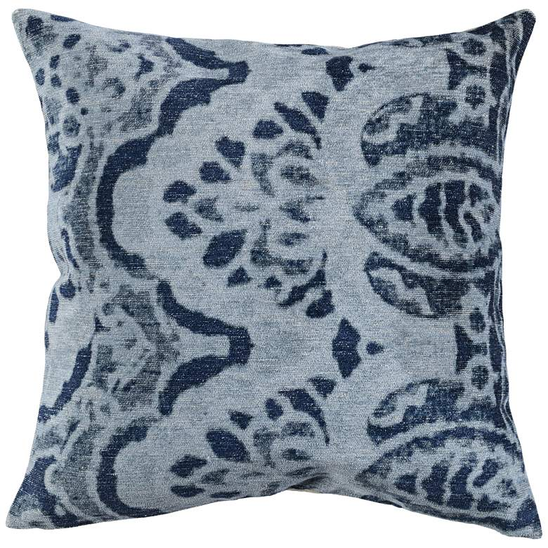 "Luna Dusty Blue 20"" Square Throw Pillow"