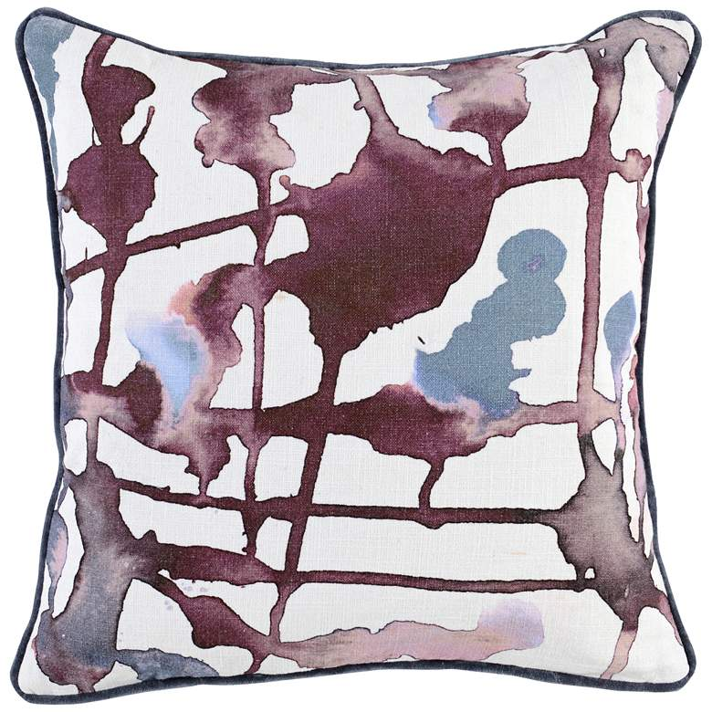 "Lillian Multi-Color 22"" Square Throw Pillow"