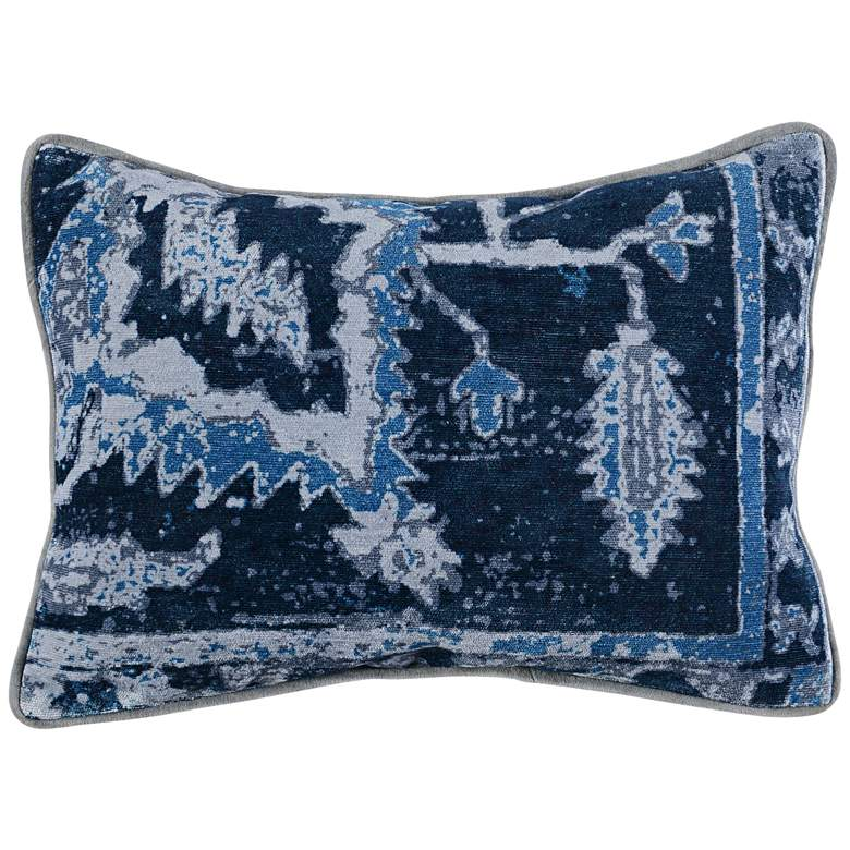 "Stella Dusty Blue Multi-Color 20"" x 14"" Throw Pillow"