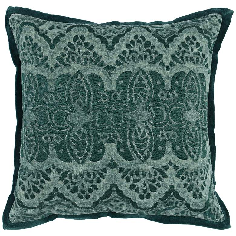 "Mercer Emerald Green 18"" Square Throw Pillow"