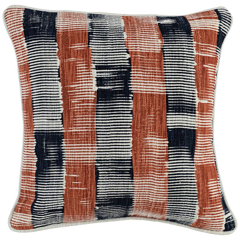 """Casey Multi-Color 20"""" Square Throw Pillow"""