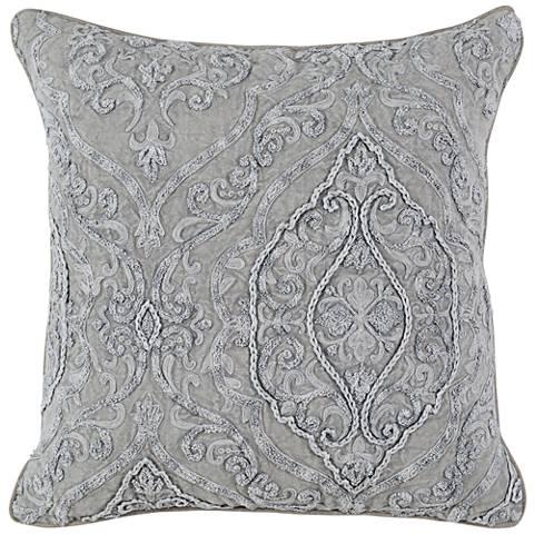 "Abilene Gray 20"" Square Throw Pillow"