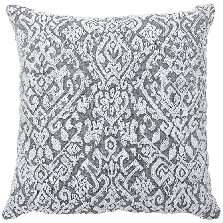 "Wisteria Gray 22"" Square Throw Pillow"