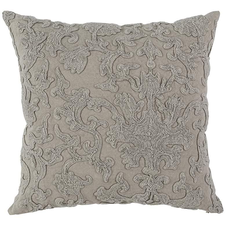 "Portia Natural 22"" Square Throw Pillow"