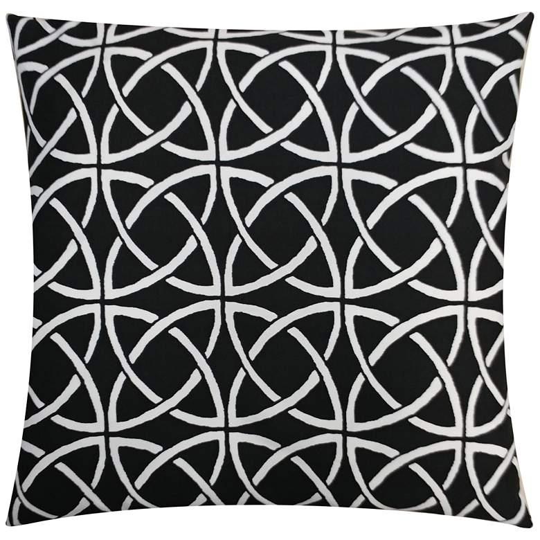"""Aruba Onyx 20"""" Square Outdoor Throw Pillow"""