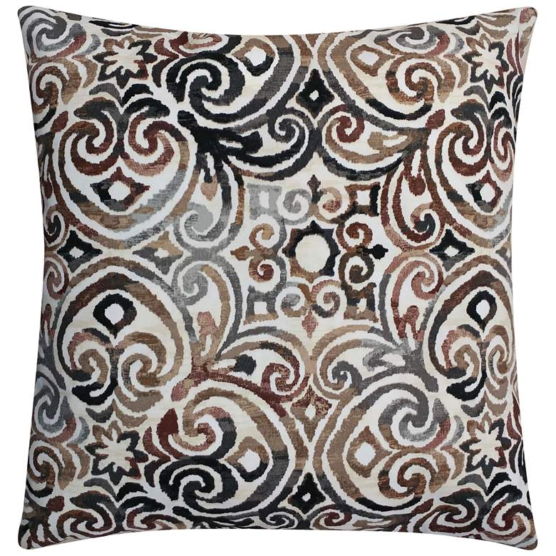 "Mani Natural 20"" Square Outdoor Throw Pillow"