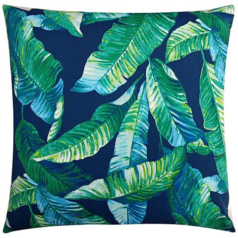 "Cavana Blue 20"" Square Outdoor Throw Pillow"