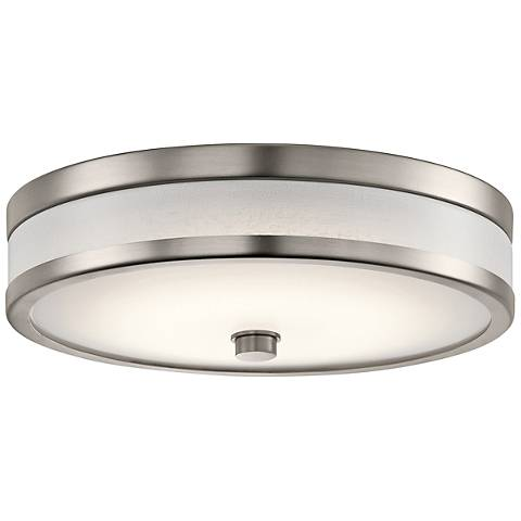 "Kichler Pira 12"" Wide Champagne LED Ceiling Light"