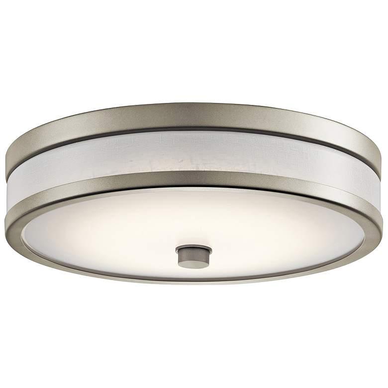 """Kichler Pira 12"""" Wide Brushed Nickel LED Ceiling Light"""