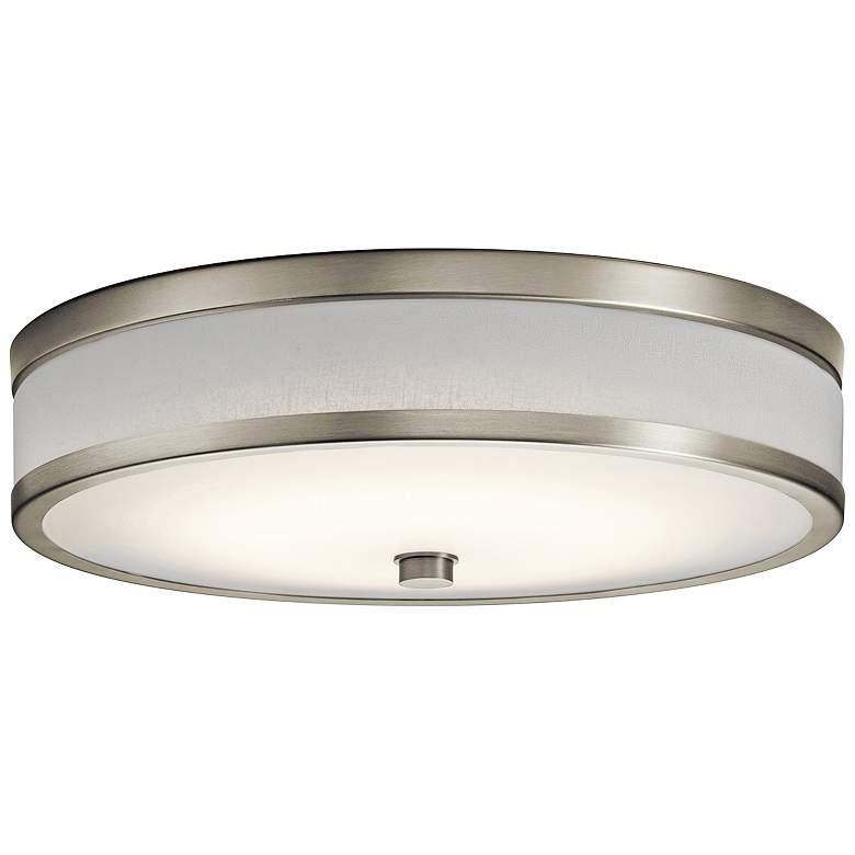 "Kichler Pira 15"" Wide Brushed Nickel LED Ceiling"