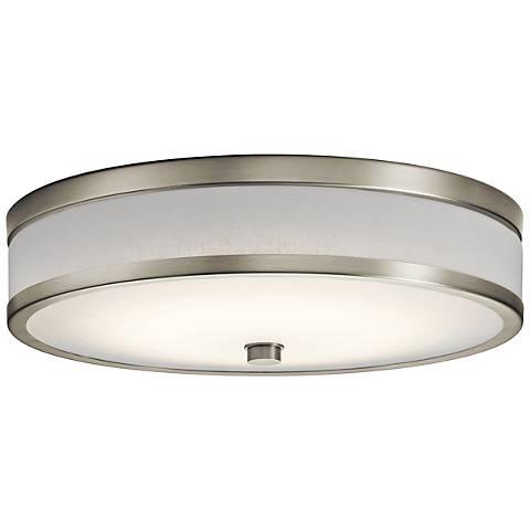 """Kichler Pira 15"""" Wide Brushed Nickel LED Ceiling Light"""